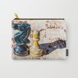 Chess Pawn and Knight - Veterans Carry-All Pouch