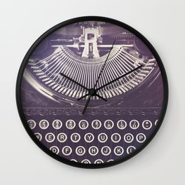Typewriter Wall Clock