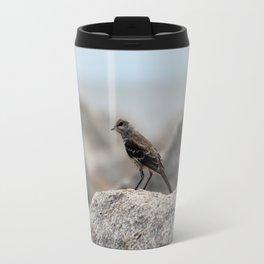Bird On A Rock By The Sea Travel Mug