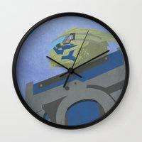 garrus Wall Clocks featuring Palaven - Mass Effect by LightningJinx