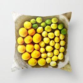 Citrus Bowl Throw Pillow