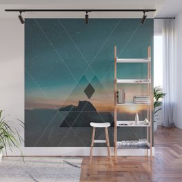 Mountain Landscape Geometric Wall Mural