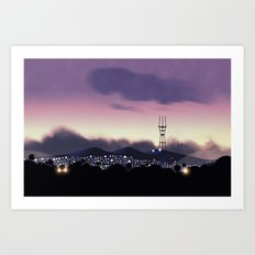 Sutro Tower Sunset Art Print