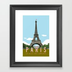Paris 2 Travel Poster Framed Art Print