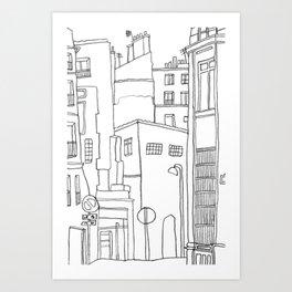 Paris Poetic Buildings Art Print
