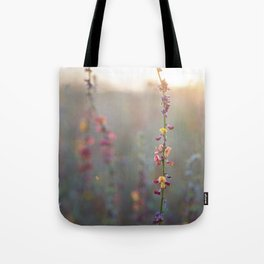 Wildflowers at Sunse Tote Bag