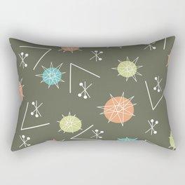 Mid Century Modern Sputnik Starburst Planets 2 Rectangular Pillow