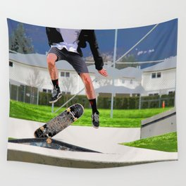 Missed Opportunity  - Skateboarder Wall Tapestry