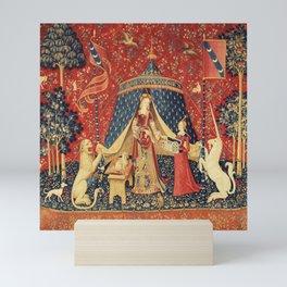 Lady and Unicorn Mini Art Print