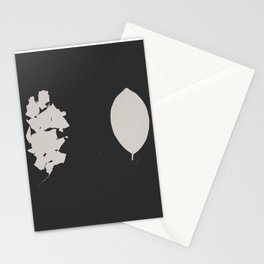 """Photogram of two leaves """"shattered"""" Stationery Cards"""