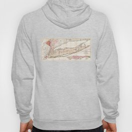 1842 Mather Map of Long Island, New York Hoody