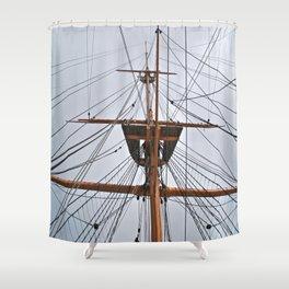 HMS Warrior III Shower Curtain