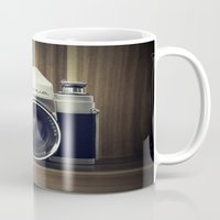 old school Mugs featuring Old School by Jessica Gullasch