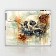 watercolor skull Laptop & iPad Skin