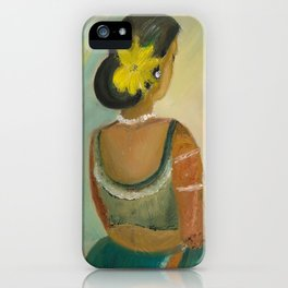 After the dance - Sri Lankan dancing girl iPhone Case