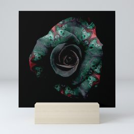 Dark Rose - Abstract Floral Photography by Fluid Nature Mini Art Print