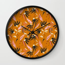 ADOBO GARDEN OCHRE Wall Clock