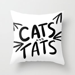 Cats & Tats Throw Pillow