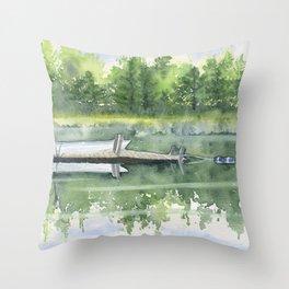 A Summer Pond Throw Pillow