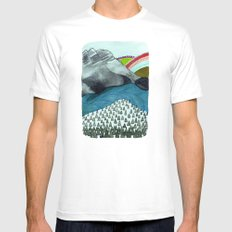 Landscapes / Nr. 4 Mens Fitted Tee White MEDIUM