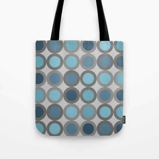 Grey blue circle 6 Tote Bag