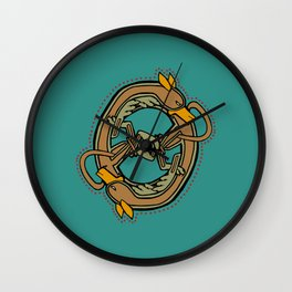 Celtic Hound Letter O 2018 Wall Clock