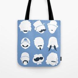Famous Moustaches blue Tote Bag