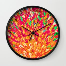NEON SPLASH - WOW Intense Dash of Cheerful Color, Bold Water Waves Nature Lovers Modern Abstract  Wall Clock
