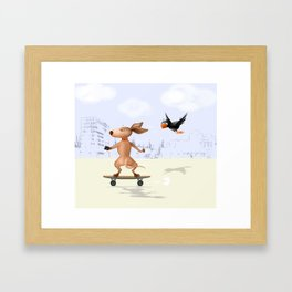 Can you keep up with me? Framed Art Print