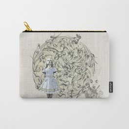 Alice,White Rabbit  and a Wonderland Carry-All Pouch
