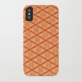 Woven Orange iPhone Case