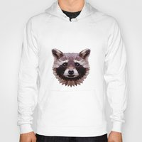 raccoon Hoodies featuring Raccoon by Roxy Color