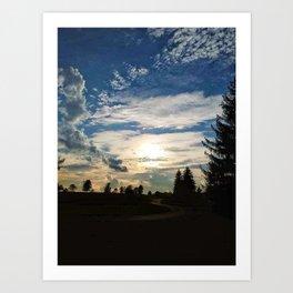 Sunset Path Art Print