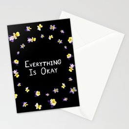 Everything Is Okay Stationery Cards