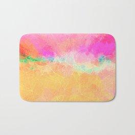 Modern Pastel Rainbow Cascade  Bath Mat