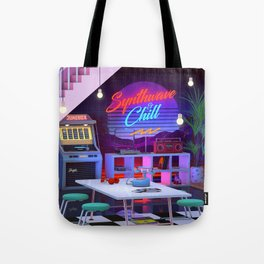 Synthwave And Chill Tote Bag