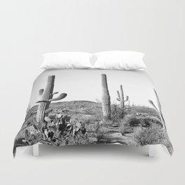 Grey Cactus Land Duvet Cover