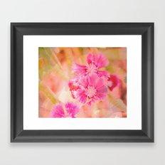 Textured Flowers Framed Art Print