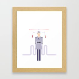 Inspector Gadget Framed Art Print