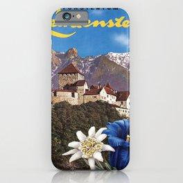 Vintage Placard liechtenstein principality iPhone Case