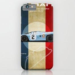 Le Mans Racetrack Vintage iPhone Case