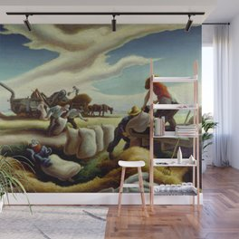 Classical Masterpiece 'Sugar Cane' by Thomas Hart Benton Wall Mural