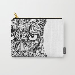 Ornamental, tattooed mountain lion Carry-All Pouch