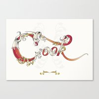 cook Canvas Prints featuring Cook  by Ketina