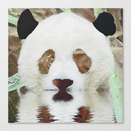 Panda Reflection Canvas Print