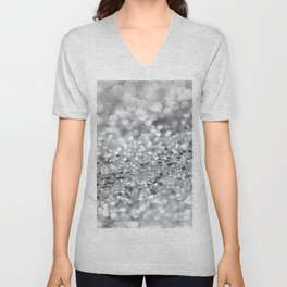 Silver Gray Lady Glitter #1 #shiny #decor #art #society6 Unisex V-Neck
