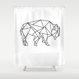 Geometric bizon Shower Curtain
