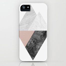 Marble fashion composition IV iPhone Case