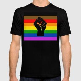 LGBT Pride Flag More Colors Raised Fist (More Pride) T-shirt