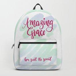 Amazing grace - pink brush script Backpack
